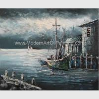 Quality Contemporary Fishing Boat Painting At Sea  / Sailing Ship Paintings Prints for sale