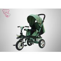 Quality Green Baby Tricycle Bike Qualified Textile Fabric Adjustable Backrest for sale