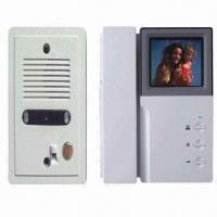 Quality High-brightness Wired Video Door Phone with 4-inch CRT B/W and 100 to 240V AC Input Voltage for sale