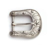 Quality Popular 25mm Pin Belt Buckles With Carving , Light Surface Treatment for sale