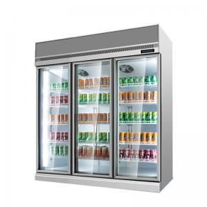 Quality Drinks Display Refrigerator Supermarket Fridge Glass Door Beer Glass Bottle Cooler With CE Approved for sale