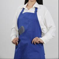 Buy high quality hot sale adjustable neck tie bib apron with multi pencil pocket at wholesale prices