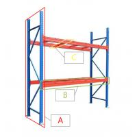Buy cheap Powder Coated Q235 Steel Warehouse Storage Heavy Duty Metal Pallet Rack from wholesalers