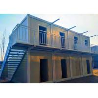 China Ballroom / Bar Portable Shipping Container Homes Two Stories With External Stairs on sale