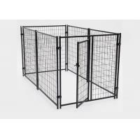 Quality Simple Setup Metal Dog Kennel Dog Runs For Large Dogs Corrosion Protection for sale