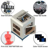 Quality CreatBot D600 Digital Large Scale 3D Printer With Fully Enclosed Metal Chamber for sale