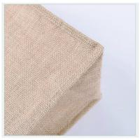Quality Reusable Grocery Eco Friendly Natural Jute / Burlap Tote Bags Soft Cotton Handles Laminated Interior shopping bag for sale
