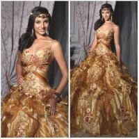 Quality 2012 Magnificent Sexy Spaghetti Straps A-Line Sheath Jacket Beaded Flower Ruffle Tulle Satin Quinceanera Dresses (QD-031) for sale