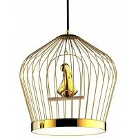 Quality Classical / Contemporary Bird Cage Round Pendant Light For Living Room for sale