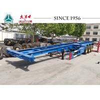 Quality 40FT 3 Axle Skeleton Chassis Trailer For Container Transportation for sale