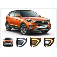 Quality Hyundai Creta 2018 2019 LED Fog Lamps , Daytime Running Lights with Yellow Turn Signal for sale