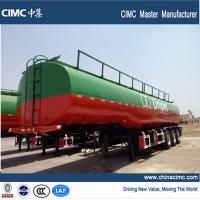 Quality 3 axles fuel tanker semi trailer , 42000 liters fuel tank semi trailer for sale