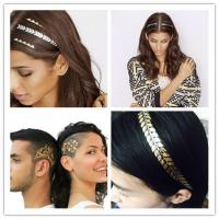 Quality temporary hair tattoo sticker gold color hair tattoo for sale