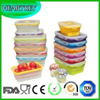 China 4 Pack (350ML , 540ML , 800ML , 1200ML) Food Storage Containers Silicone Collapsible Lunch on sale