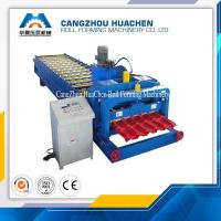 Quality PLC Control Glazed Tile Roll Forming Machine / Roof Tile Roll Forming Machine For Modern Villas for sale