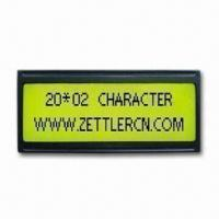 China STN Yellow Green 20-character Dot-matrix LCD Module with Bottom LED Backlight on sale