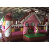 China Kids Candy House Princess Bouncy Castle , Exquisite Blow Up Jumping Castle on sale