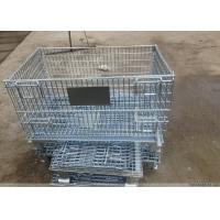 Quality Foldable Powder Coated Wire Mesh Container 4 Door H840mm for sale