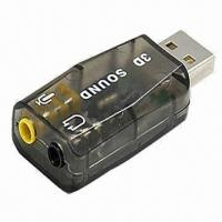 Quality USB 2.0 Sound Virtual Audio Card, 5.1 Channel, with Blister Packing for sale