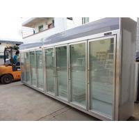 Heater Glass Door Commercial Beverage Cooler For Supermarket / Store Two Layers