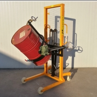 China 1500mm 120mm/S Manual Oil Drum Stacker Movers on sale