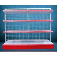 Quality Foldable Grid Back Store Wall Mounted Shelves Iron Storage Rack Single Face for sale