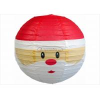 "Quality 12"" 14"" 16"" Paper Christmas Decorations Round Snowman Christmas Lantern for sale"