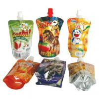 Quality Corrosion Resistant Bopp / Vmcpp Color Printed Food Packaging Pouches With Spout For Milk / Jelly for sale