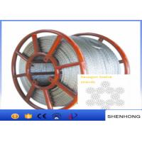 China Hexagon 12 Strands Anti Twist Wire Rope Steel Wire Rope 11Mm - 24Mm Diameter on sale