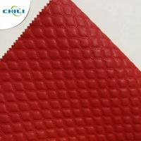 China Wholesale quilted Synthetic embroidered PU  shoe leather on sale