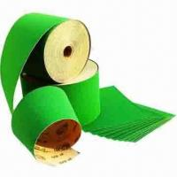 Quality White Aluminum Oxide Abrasive Paper with Green Front Color, Resin Bond and D-E Paper Backing for sale
