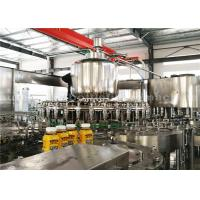 Quality PLC Washing Capping Juice Bottle Filling Machine 3 Phase For 500ML Plastic Bottles for sale
