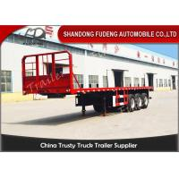 Quality 20 Ft 40 Ft 45 Feet Flatbed Semi Trailer Platform High Bed Trailers For Container Delivery for sale