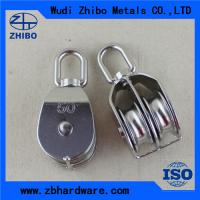 Quality High quality Stainless steel double/single pulley,rope pulley blocks for sale