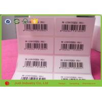 Quality Custom Logo Printing Barcode Sticker Labels , 3D Transparent Removable Adhesive Paper for sale