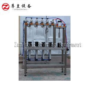 China 330ml / 500ml Manual Beer Bottling Machine , Automatic 4 Head Beer Bottle Filler on sale