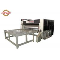 Quality Feed 2 Color Corrugated Box Printing Machine , Corrugated Slotter Flexo Printing Machine for sale