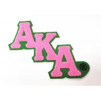 China Greek Chenille Letter Patches  Varsity Jackets Style Good Colorfastness on sale