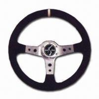 Quality Steering Wheel with Stylish Finish, Comes in Black for sale
