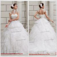 Quality CH1834 Newest Arrival Beautiful Strapless Ruffled Top Multi-layered Skirt Puffy Ball Gown for sale