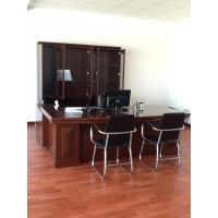 Solid Wood Commercial Office Furniture Walnut Office Desk Environmental