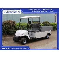 Quality 2 Seaters Electric Car , Electric utility carts 48V/3KW With Bucket 80km range for hotel for sale