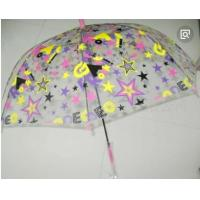 Colorful Clear Canopy Bubble Dome UmbrellaPlastic Hook Handle Stick Metal Frame
