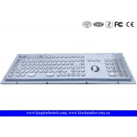 Quality Kiosk Stainless Steel Panel Mount Keyboard With Trackball , FN Keys And Number Keypad for sale