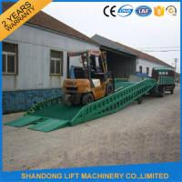 Quality Adjustable Hydraulic Portable Loading Ramps for Trucks , Storage Container Ramps for sale