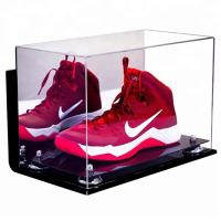 Quality High Transparent Clear Acrylic Shoe Display Case Acrylic Display Case Box for sale