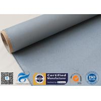 Quality Grey Silicone Coated Fiberglass Fabric 0.85MM Satin Weave Abrasion Resistant for sale