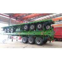 Buy cheap PANDA New Design 3-axle 20ft 40ft flatbed container truck trailer from Wholesalers