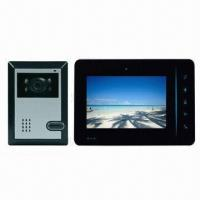 Quality 4-wire Video Door Phone with Handsfree, 7-inch Monitor and Remote Unlock, Video Intercom Function for sale