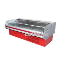 Quality Commercial Open Counter Top Serve Deli Fish Cold Food Fresh Meat Display Refrigerator for sale